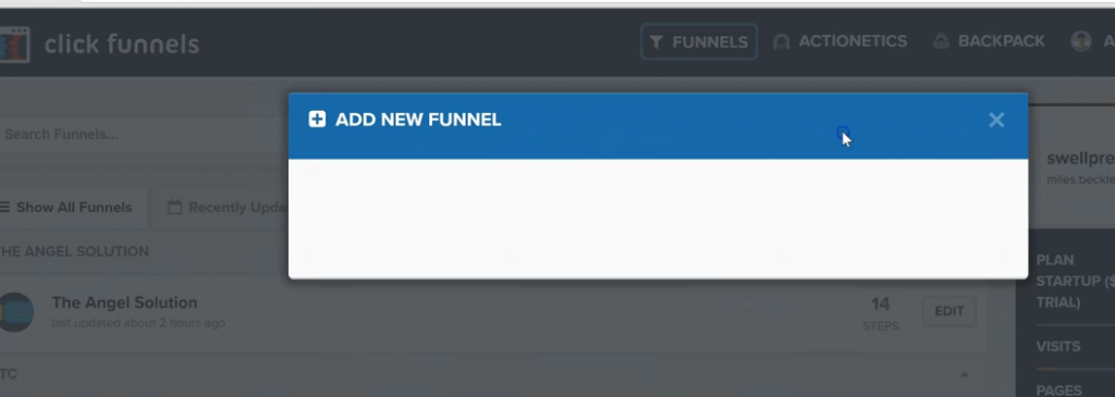 add new funnel