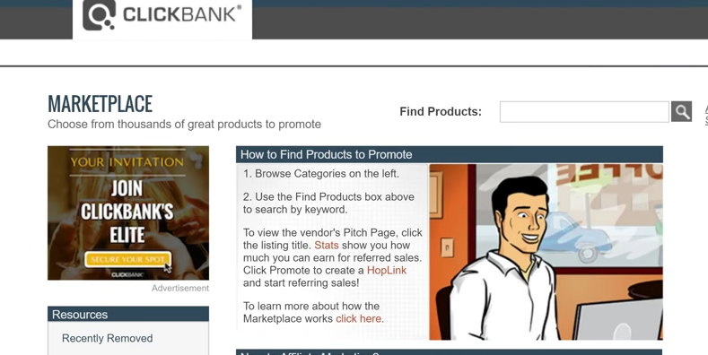 go to clickbank