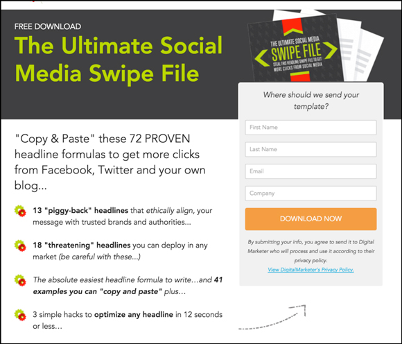 ultimate social media swipe file