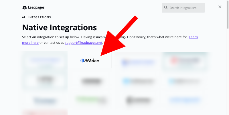 integrate aweber and leadpages - 6
