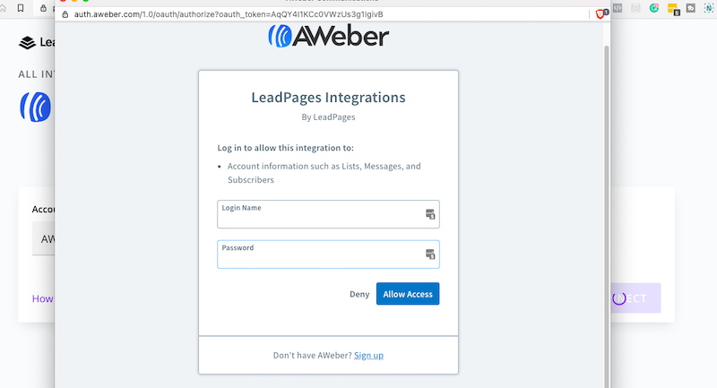 integrate aweber and leadpages - 9